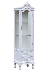 glass fronted antique cabinet