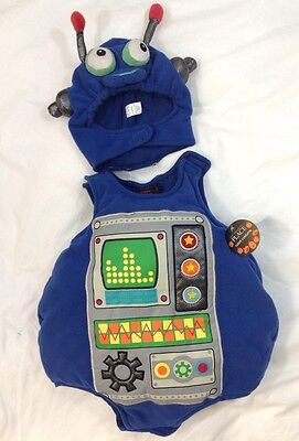 CHILDREN PLACE Baby Robot Halloween Costume 0 - 6 Month Infant Toddler Hat Set