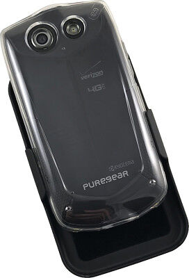 PUREGEAR CLEAR HARD CASE COVER + BELT CLIP HOLSTER FOR KYOCERA BRIGADIER E6782 Clear Cover Clip
