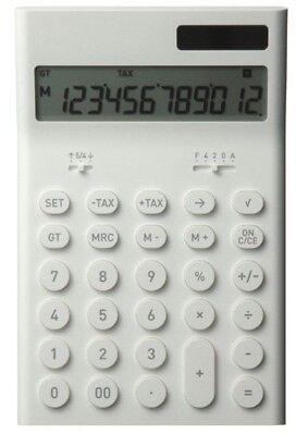 Plus Minus Zero 0 Electronic Computer Calculator M White ZZD-Q010W With Tracking