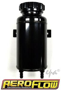 AEROFLOW POLISHED ALLOY RADIATOR OVERFLOW COOLANT EXPANSION TANK AF77-1015BLK