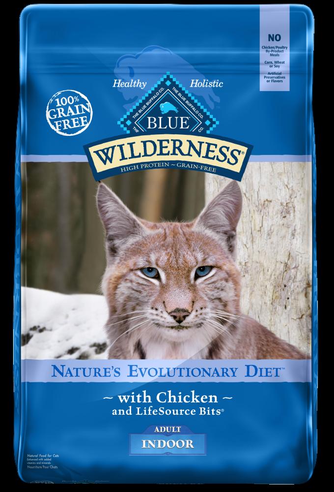 Blue Buffalo Wilderness Grain Free Indoor Chicken Cat Food
