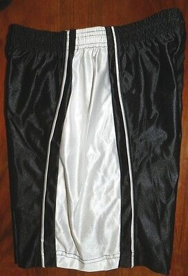 Basketball Shorts Black A4 White Insets Youth size Large New