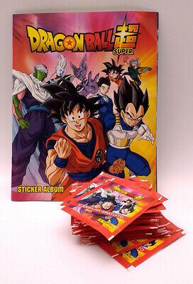 Álbum de cromos vacío Dragon Ball Super + 42 sobres nuevos –...