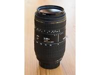 Sigma 70-300mm 4.5 - 5.6 APO Macro Super telephoto Nikon fit