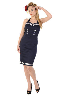 - Sailor Pencil Dress - NAVY/BLUE or RED - Dancing Days / Banned Apparel