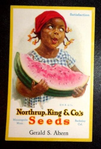 graphic blotter advertising Northrup King & Co Seeds