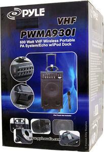 New - PYLEPRO 600 Watt VHF WIRLESS PORTABLE PA SYSTEM London Ontario image 2