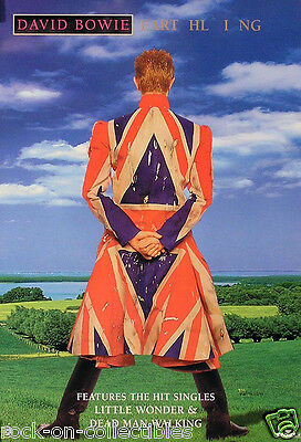 David Bowie 1997 Earthling Original Promo Poster