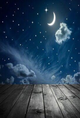5x7ft Night Starry Sky Stars Photography Backgrounds Vinyl Photo Backdrops Props