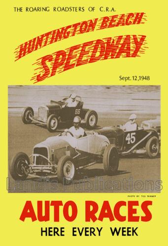 Huntington Beach Speedway Poster - 1948