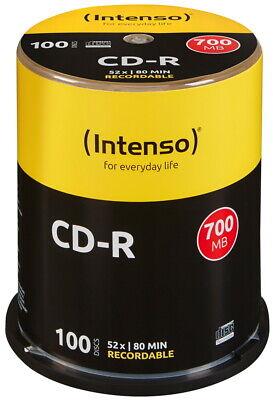 100 Intenso Rohlinge CD-R 80Min 700MB 52x Spindel online kaufen