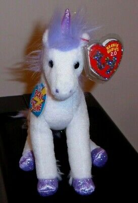 Ty Beanie Baby BB 2.0 ~ FABLE the Unicorn (6.5 Inch) MWMT
