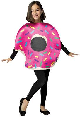 Kids Donut Halloween Costume (Rasta Imposta Strawberry Donut With Bite Childrens Halloween Costume)