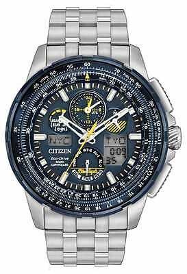 Citizen JY8058-50L Men's Eco Drive Stainless Steel Blue Angels Skyhawk A-T Watch
