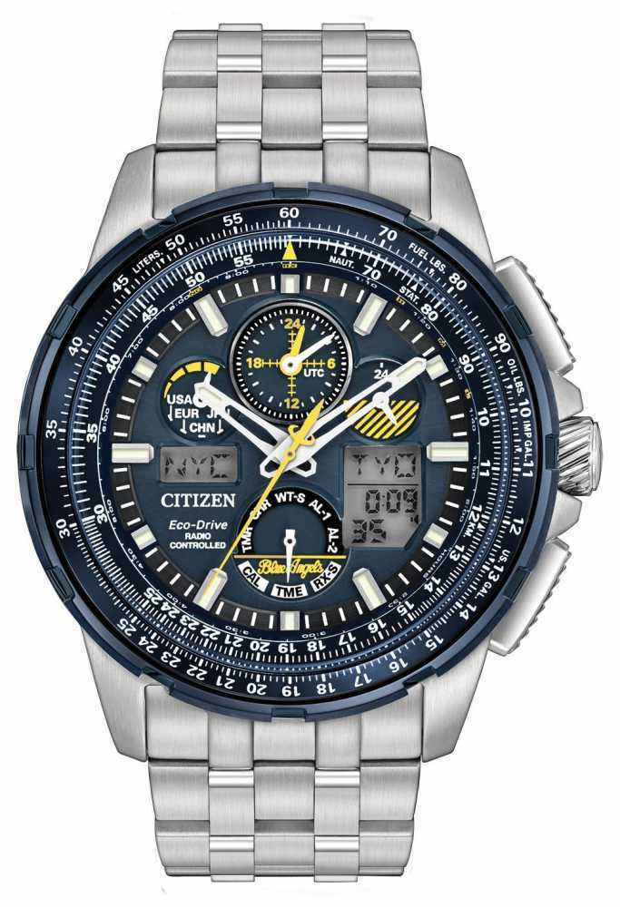 $378.97 - Citizen JY8058-50L Men's Eco Drive Stainless Steel Blue Angels Skyhawk A-T Watch