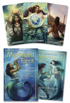 Mermaid Tarot KIT Deck Cards & Book Set Wiccan Pagan Metaphysical Cards Book Kit