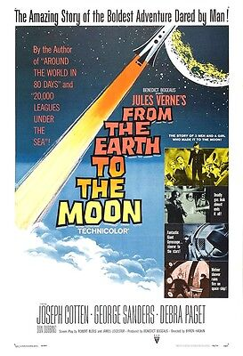 From The Earth To The Moon Movie Poster Print - 1958 - Sci-Fi - 1 Sheet
