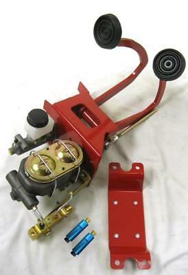 (Universal Manual Brake Booster Clutch Pedal Master Cylinder Disc Disc Valve Kit)
