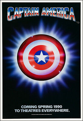 Captain America Movie Poster Print - 1990 - Action - 1 Sheet Artwork - 1990 Captain America Movie