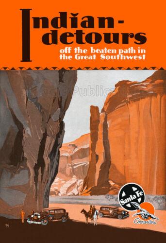 Indian Detours - 1937 Fred Harvey / Santa Fe Railroad Travel Poster