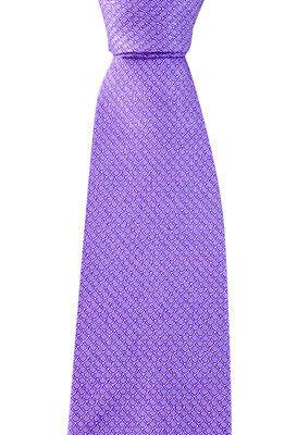 "Men's BRIONI Italy Purple Dragon Scale Pattern Handmade 3.25"" Silk Neck Tie NWT"