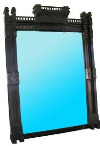 7251-Antique-American-Aesthetic-Movement-Ebonized-Over-Mantel-Mirror