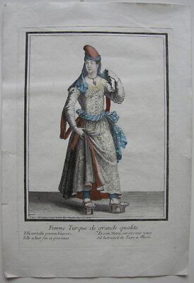 Osmanen Kostüm altkolor. Orig. Kupferstich bei Bonnart 1700 (1700 Kostüm)