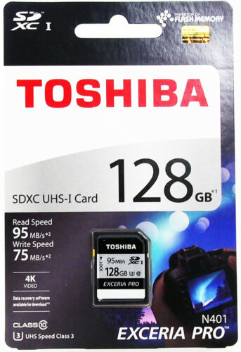 TOSHIBA N401 SD Card Memory Card 128GB EXCERIA PRO SDXC UHS-