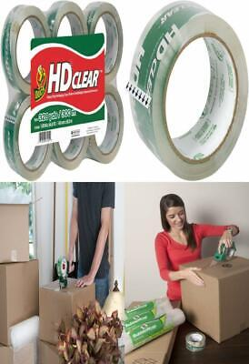Duck HD Clear Heavy Duty Packing Tape Refill, 6 Rolls, 1.88 6-Pack,