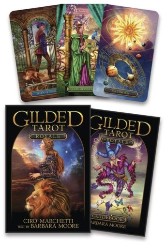 Gilded Tarot Royale NEW Sealed 78 Cards 224 pg guide book C. Marchetti B. Moore