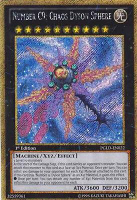 YU-GI-OH! PGLD-EN022 Numero Number C9 Chaos Dyson Sphere GOLD SECRET ENG usato  Mastromarco