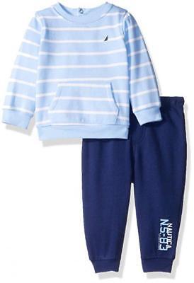 Nautica Infant Boys Blue 2pc Jog Pant Set Size 3/6M 6/9M 12M 18M 24M $50