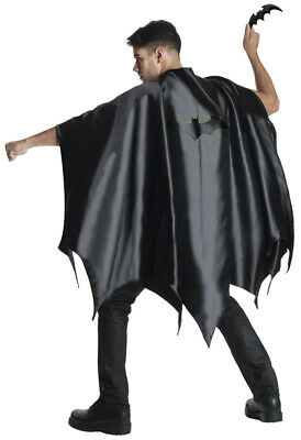 Batman Cape Adult Men Costume Cloak Black Superhero Bruce Wayne Halloween