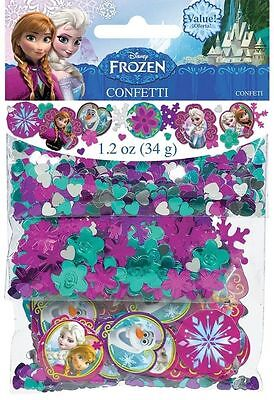 Disney Frozen Confetti Birthday Party Supplies Decorations Anna Elsa Olaf Favors - Disney Frozen Birthday Supplies