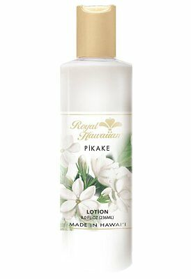 (Hawaiian PIKAKE BODY LOTION By ROYAL HAWAIIAN Hawaii New 8oz  Wedding Flower Lei)