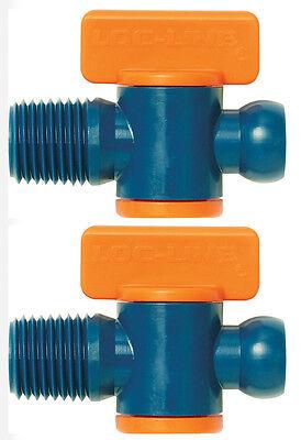 Pack Of 2 14mnpt Flow Control Valves Loc-line Usa Original System 21192