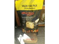 Instant light charcoal bags for bbq