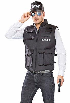 SWAT Weste Spezial Kommando Herrenkostüm NEU - Herren Karneval Fasching Verkleid (Swat Kostüm Herren)