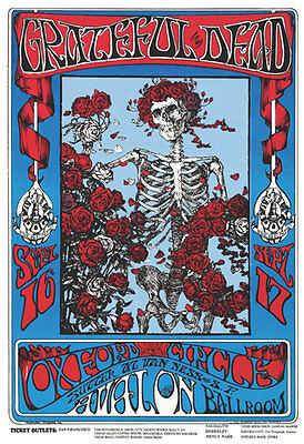 Grateful Dead - Skeletons & Roses Poster - 24