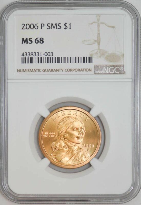 2006 P SMS Sacagawea Dollar $ MS68 NGC 942875-2