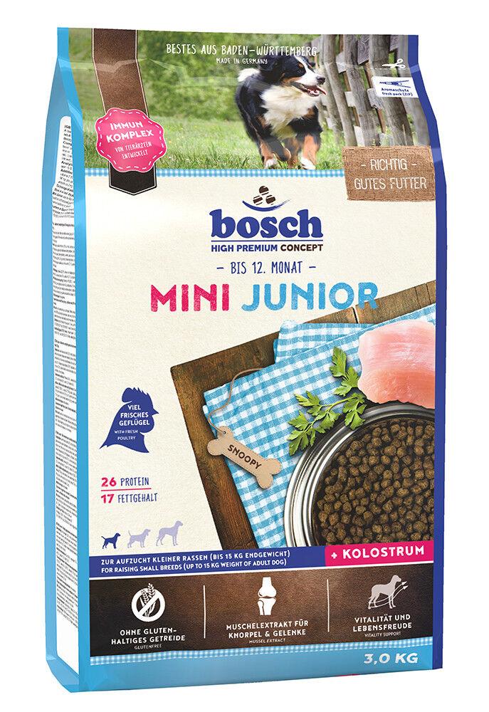 Bosch Mini Junior 3 kg Welpenfutter für kleine Rassen Hundefutter Trockenfutter
