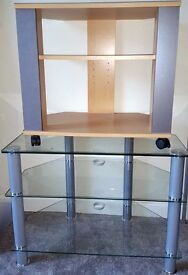 *Reduced Price* Glass and Wooden TV Units
