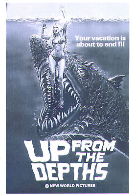 1979 Bill Stout UP FROM THE DEPTHS pressbook, unfolded
