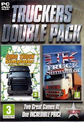 Set Of 2 Trucking Sims   Euro Truck Simulator Plus Uk Truck Simulator Pc Games