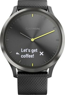 Garmin Vivomove HR Sport Hybrid Smartwatch Black Large 148-215 mm
