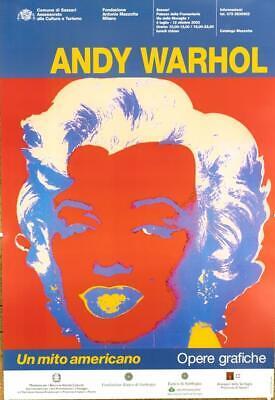 ORIGINAL VINTAGE POP ART POSTER ANDY WARHOL AN AMERICAN MYTH MARILYN 2003 LINEN