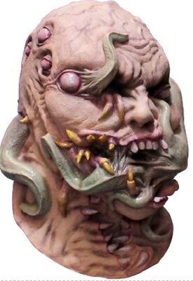 Ghoulish Writhing Corruption Latex Mask Creature Fangs Halloween Accessory ()