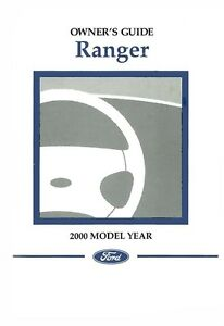 2000 Ford Ranger Owners Manual User Guide