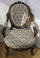 Antique Victorian parlour chair set
